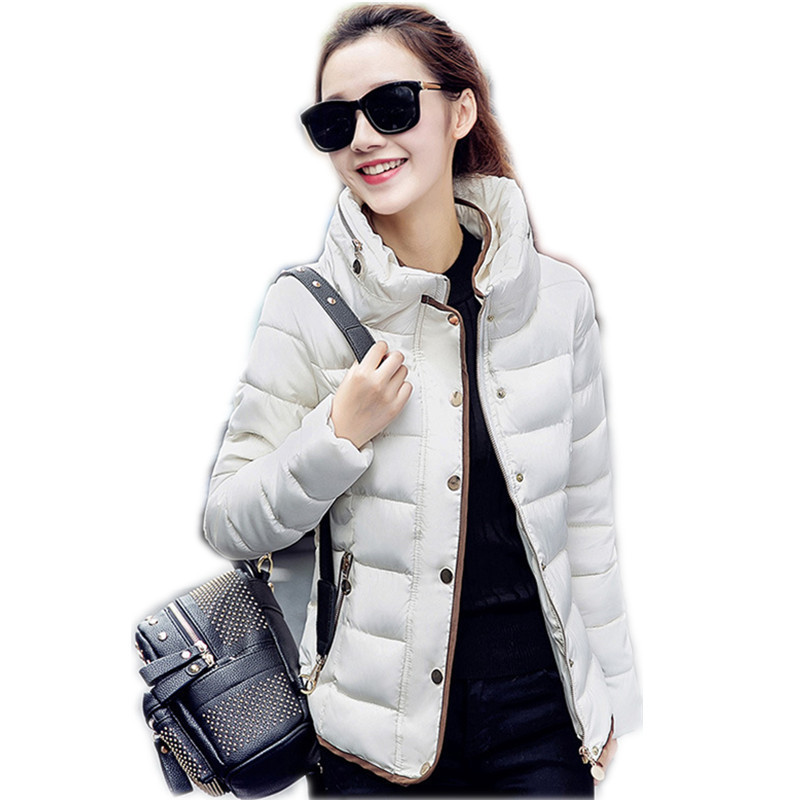 2016 High Quality Womens Winter Jackets And Coats Slim feamle Stand Collar Thin Stylish Double Collar Warm Down Jacket
