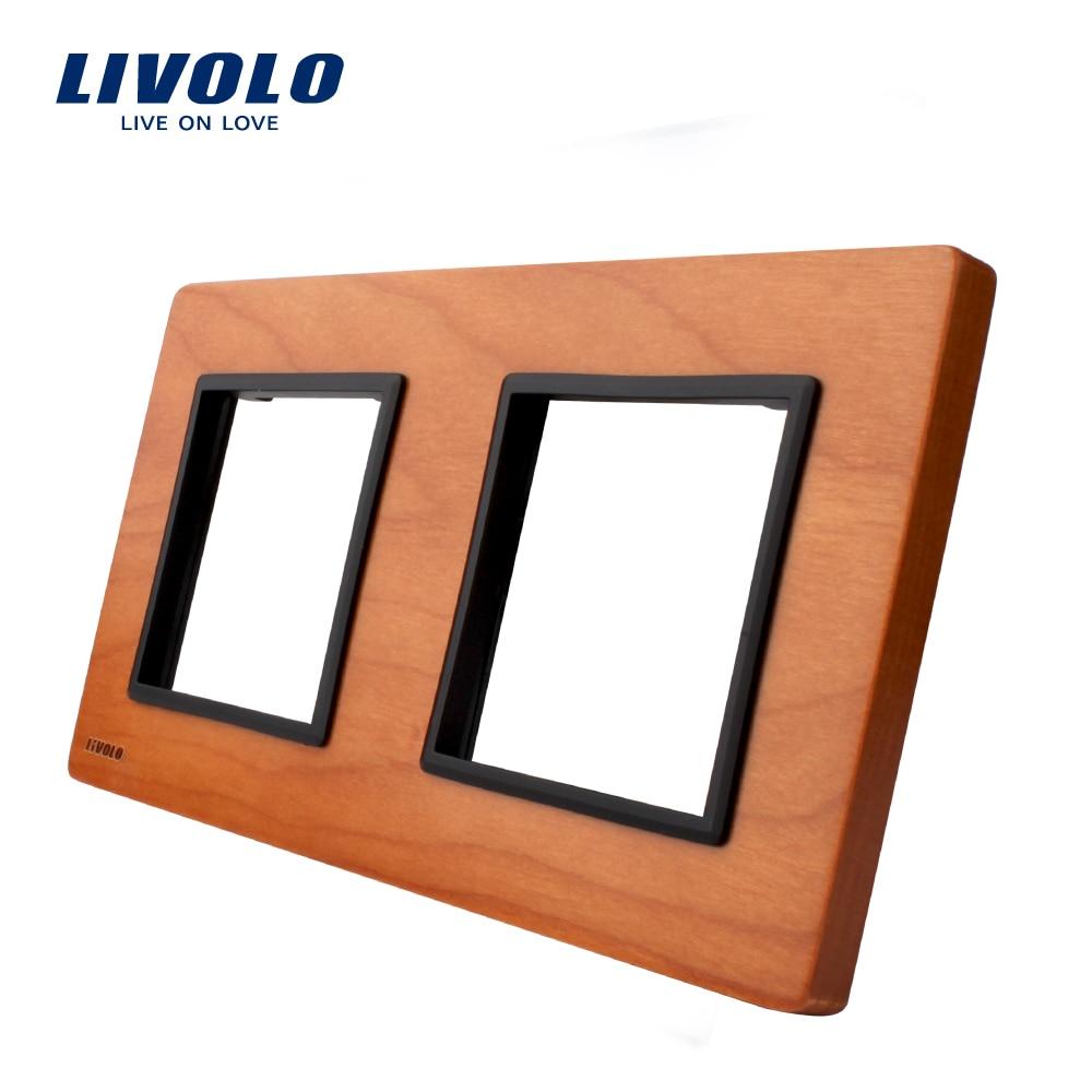 Livolo Luxury Cherry Wood panel, 150mm*80mm, EU standard, Double Cherry Wood Panel For Wall Switch&Socket,VL-C7-SR/SR-21 пуф dreambag круг cherry