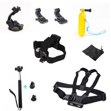 GoPro xiao yi Equipment eight in 1 Gopro Equipment Package Head Chest Belt Strap Mount Floating Deal with Grip for Gopro four three+/three/2/1