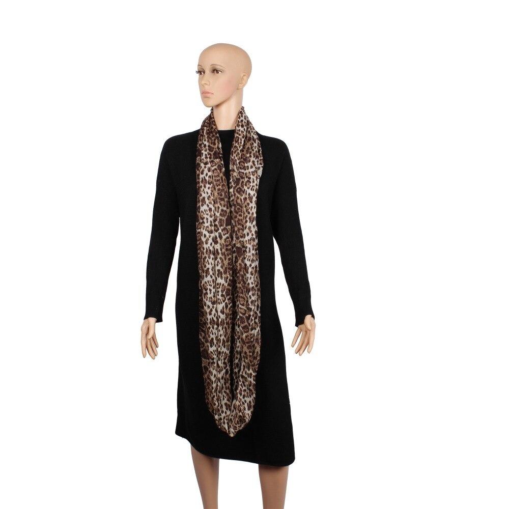 Nueva moda para mujer Súper Suave Ligero Café Leopardo Animal Print - Accesorios para la ropa - foto 5