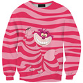 Sudaderas Unisex Sweatshirts Winter Pink Cute Civet Cats Printed sudadera Casual Hoodie Harajuku Fashion Style Pullover 0141