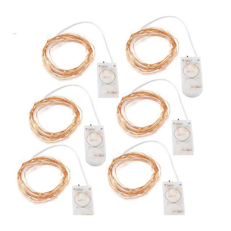 Litwod Z20 2m LED strip light Copper Wire Holiday String lighting For Fairy Christmas Trees Party light CR2032 Button Battery ...