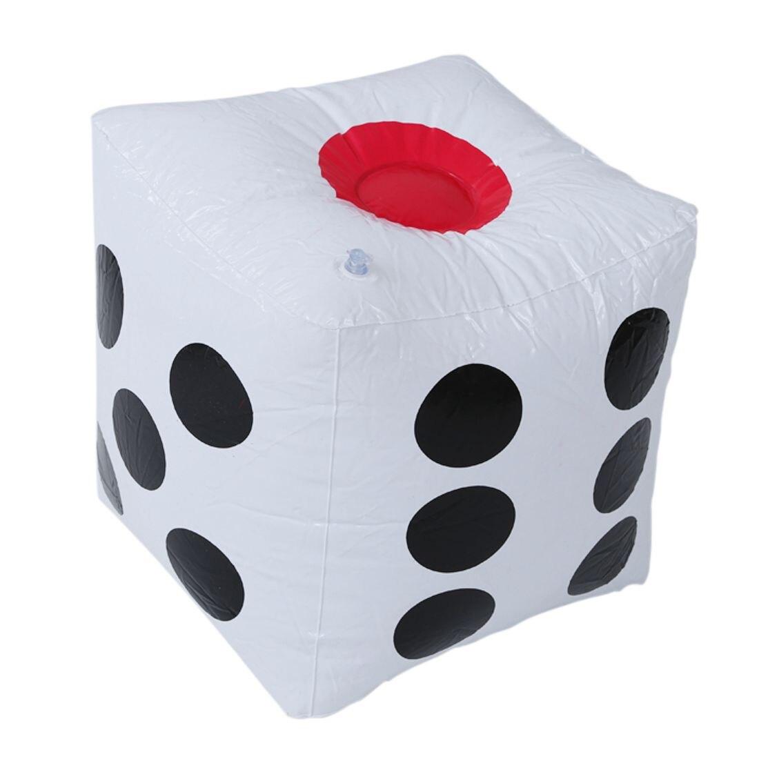 Abwe Best продажа 32 см Надувные Взорвать Cube Игральная кость Casino покер партия Аксессуары бассейн пляж игрушки