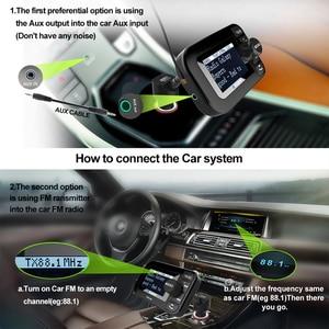 Image 5 - DAB 105 משולב אלחוטי לרכב 5 V/2.1A LCD תצוגת מטען לרכב Bluetooth דיבורית Mp3 נגן DAB מתאם FM משדר