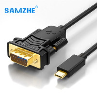 SAMZHE Type C to VGA Cable Male to Male VGA Adapter Converter for Macbook Google Chromebook Pixel