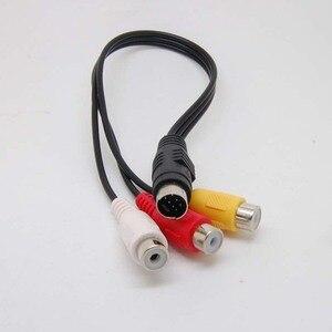 Image 2 - 7 Pin s video męski na 3 RCA żeński kabel do adaptera wideo nowy