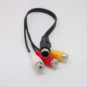 Image 2 - 7 контактный S видео штекер к 3 RCA разъем видео адаптер кабель Новый
