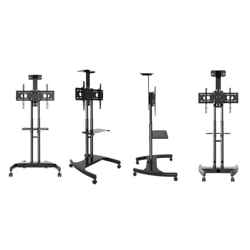 Flash Deal Mobile TV Cart Floor Stand with Adjustble shelf