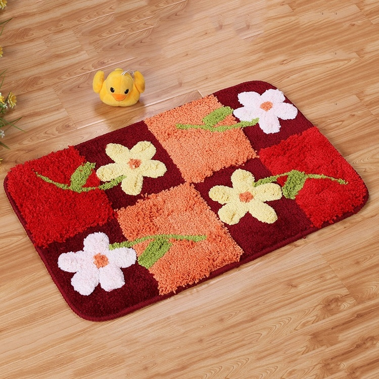 Flower Print doormats Entrance mats Bath rugs Absorbent Pads(China  (Mainland)) - Compare Prices On Floral Bath Rug- Online Shopping/Buy Low Price
