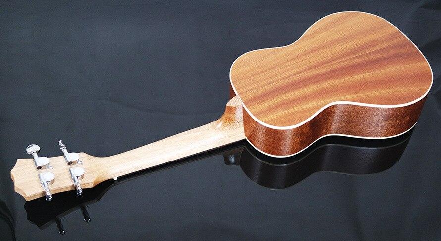 23 pouces palissandre touche ukulélé quatre cordes Aquila 17 Fret hawaïen ukelele acoustique guitare électrique coucher de soleil couleur pick-up - 4