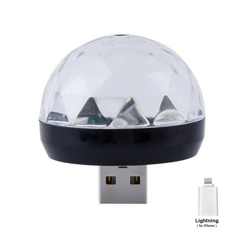 Usb Mini Led Disco Magic Light Ball Portable Karaoke Party Decor Lamp Dj Stage Bar With For Ios Adapter in Stage Lighting Effect from Lights Lighting