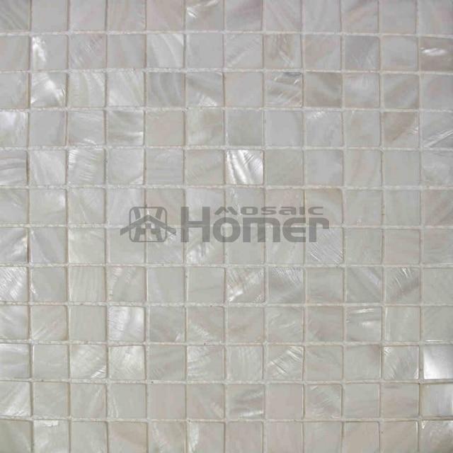 Attractive 20mm Bianco Puro Mother Of Pearl Shell Tessere Di Mosaico Per Backsplsh  Bagno Tessere Di Mosaico