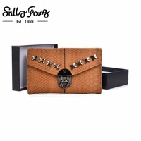 2017 Sally Young Women Wallet Short Purse Hasp Closure Women S Wallet Female Fashion Solid Metal
