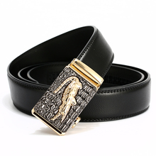 цена на [LFMB]Automatic Buckle cowboy classic crocodile stylish belts men automatic leather belt mens luxury brand men belt cinto homme