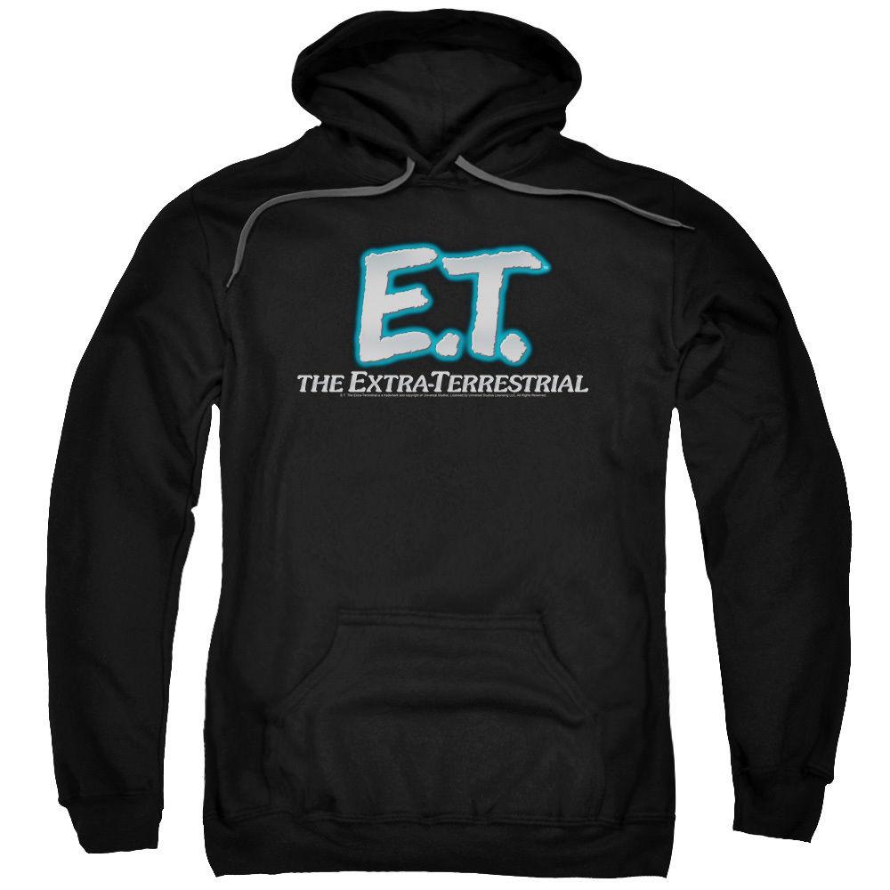 E.T. ET The Extra Terrestrial Movie LOGO Licensed Adult Sweatshirt Hoodie