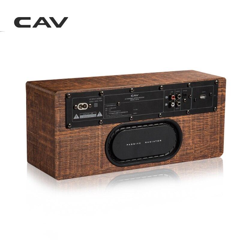 """Электрические плиты CAV AT60 Bluetooth Динамик 2,1 канала деревянные AUX оптический коаксиальный USB Вход портативные колонки глубокие басы 5,25 """"НЧ-динамик 4 режимов эквалайзера (Фото 2)"""