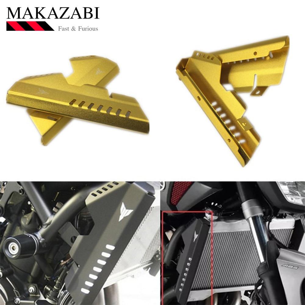 Protection latérale de radiateur en Aluminium de moto mt07 fz07 protection de réservoir d'eau gauche et droite pour Yamaha mt07 fz07