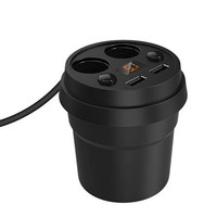 Ihens5 Dual USB Car Charger 5V 3 1A Cup Phone Holder And Cigarette Lighter Adapter With