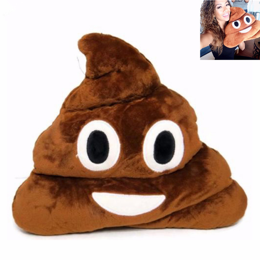 Cute Soft Poop Poo Smile Emotion Round Cushions Stuffed Plush Toy Pillow Doll For Christmas Gift free shipping hot sale cute stuffed plush poop pillow coussin caca poo cojines coussin emotion pillow cushion emoji pillows page 1