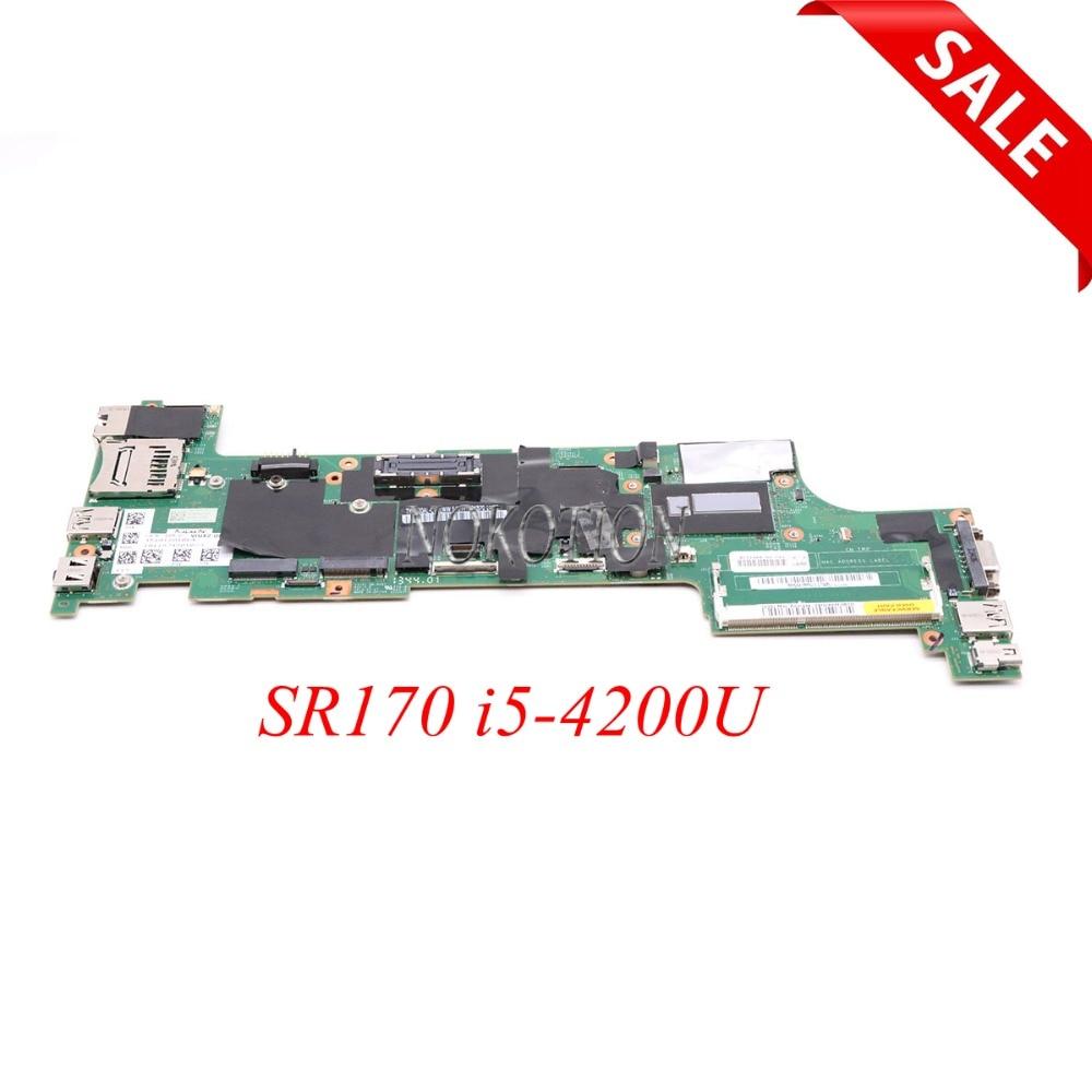 NOKOTION 04X5158 04X5146 Laptop motherboard Para Lenovo Thinkpad X240 SR170 i5-4200U CPU onboard DDR3L VIUX1 NM-A091 placa principal