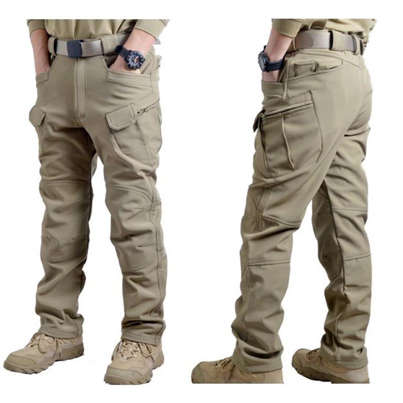 ФОТО Man Winter Waterproof  IX7 Hunting Tactical SharkSkin Softshell Military Pant Windproof Outdoor Trousers Army Hiking Camping P43