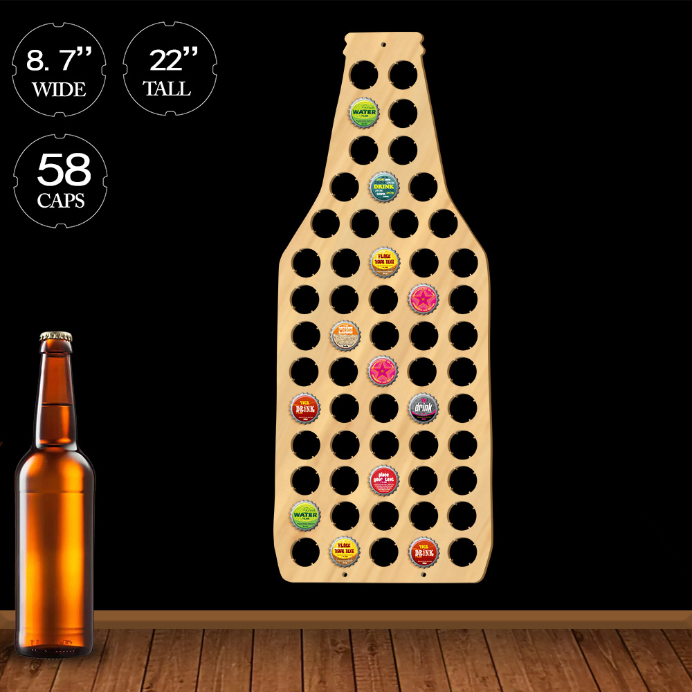 Wine Bottle Cap Display Map Beer Bottle Cap Map Unique Beer Bottle Shape Beer Cap Map Collection Pub Bar Decoration Accessories