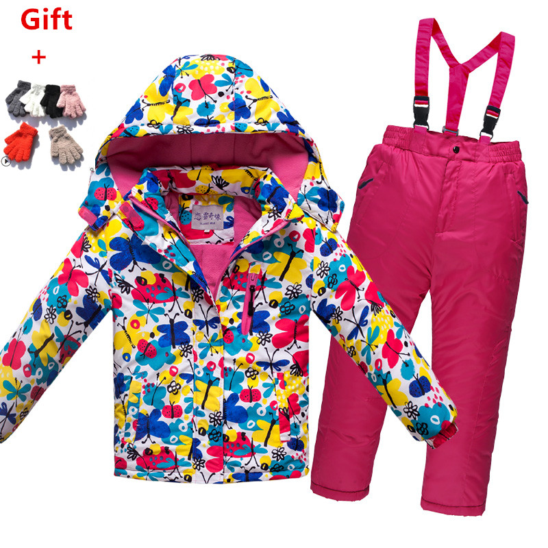 Efficient Outdoor Sport Children Ski Wear Warm Windproof Wear Resistant Boys And Girls Single Snowboard Ski Jacket And Pant Climbing Suit Attractive Designs; Sports & Entertainment Hiking Clothings