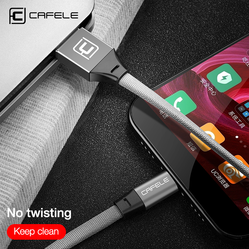 Cafele USB Type C for Xiaomi A1 Type C Cable for Huawei Mate 10 Pro Type C Fast Charge 5V 2 4A USB Type c Cable in Mobile Phone Cables from Cellphones Telecommunications