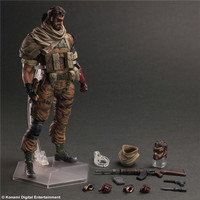 Play Arts Kai Metal Gears Snake Pvc Action Figures Collectible Model Toys 26cm