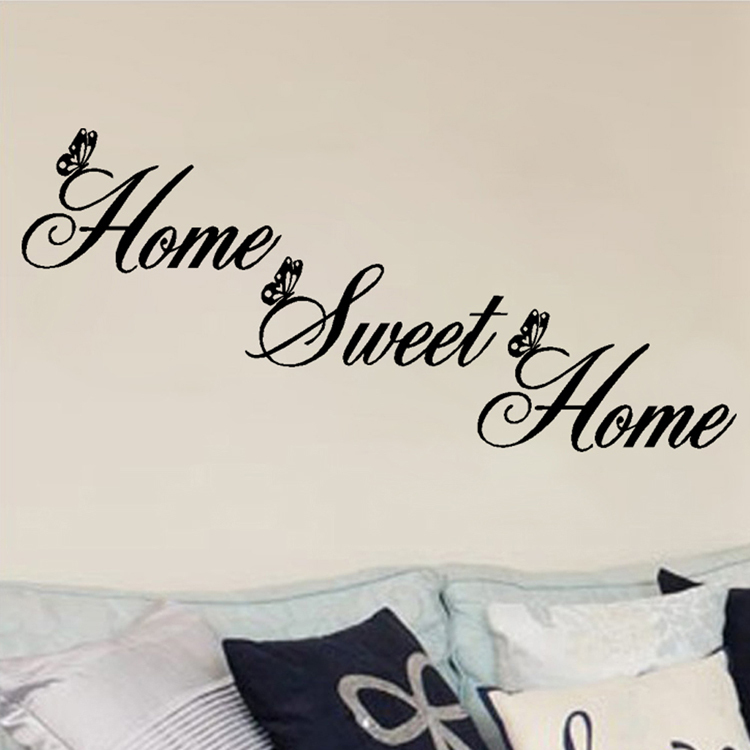 Exceptional Aliexpress.com : Buy Fashion Home Sweet Home Wall Quote Sticker Wall Decals  Mural Art Lounge Home Decor From Reliable Arts And Crafts Interior  Decorating ... Nice Look