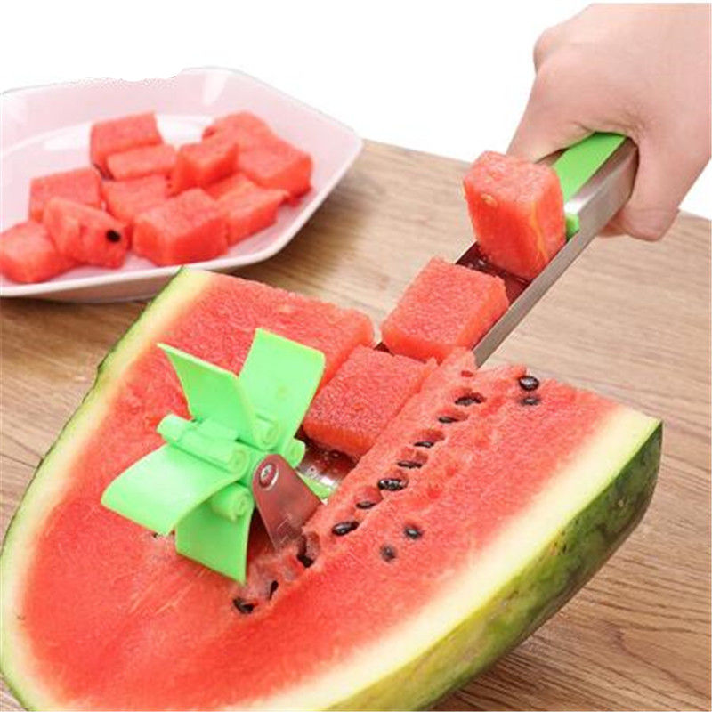 Tiktok  1Pcs New Creative Stainless Steel Windmill Watermelon Knife Shredders Salad Making Equipment Salad Cutter Slicer
