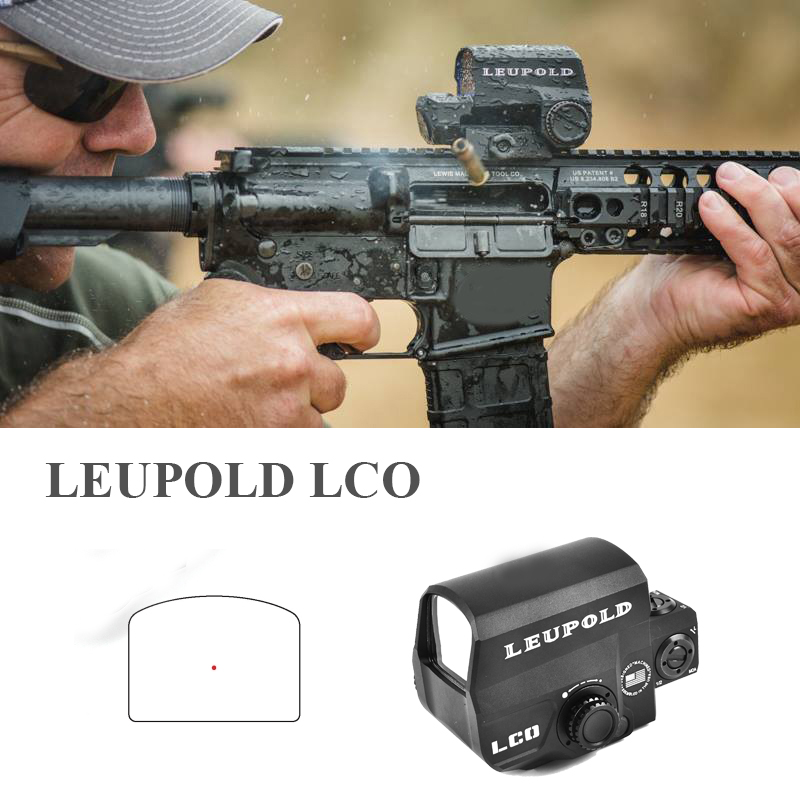 LEUPOLD LCO Red Dot Sight Holographic Sight Tactical Riflescope Fits Any 20mm Rail Mount Hunting Scopes Reflex Sight orginal tactical optics red dot sight holographic sight hunting scopes reflex sight with 20mm weaver rail for airsoft