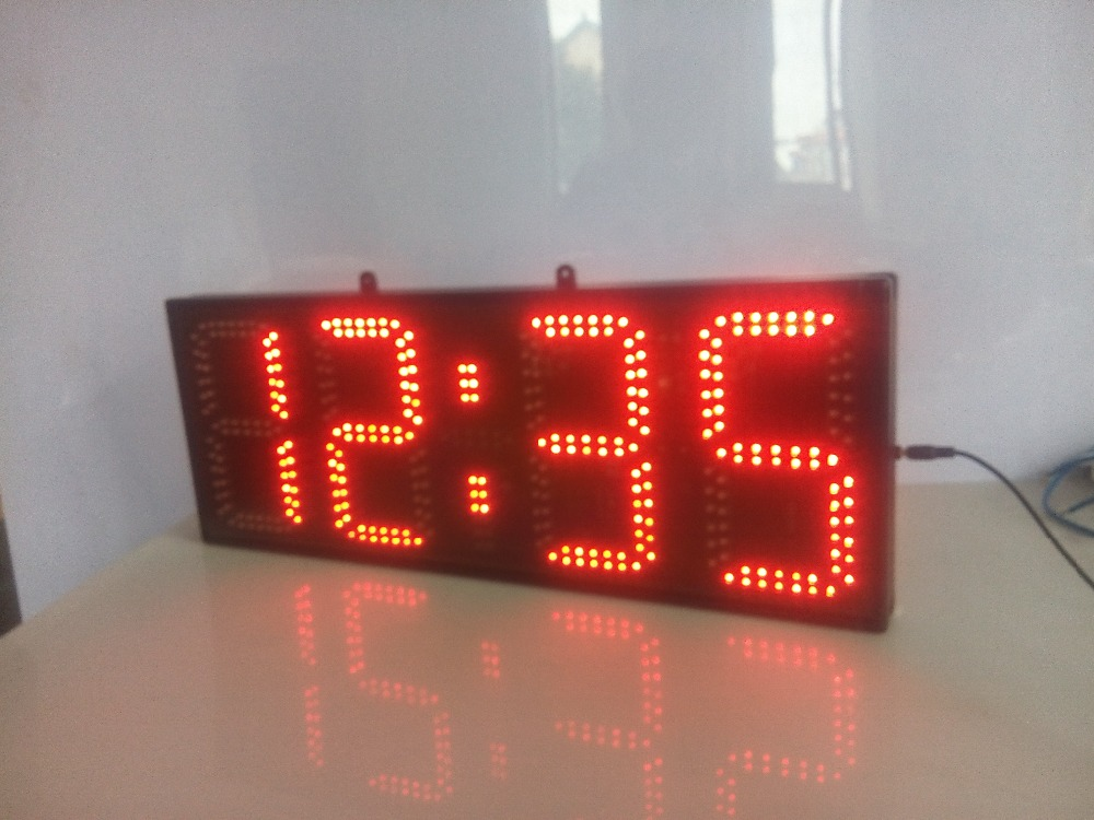 8inch red color hours and minutes  LED clock (HST4-8R)