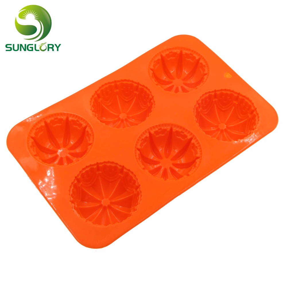 Cake Decorating Tools 6 Flowers Fondant Silicone Cake Pan Candy Jelly Soap Silicone Decoration Mold Cupcake Baking Pan Bakeware in Cake Molds from Home Garden