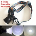 1000 Lumens LED Headlight Cree XM-L T6 Head Lamp High Power LED Headlamp With Build-in Battery Charger+Car Charger