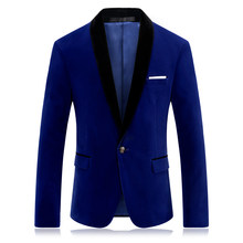 CIGNA Brand Men Long Sleeve Suit Jacket Blue Wine Red Fashion Business Banquet Wedding Men's Dress Jackets(China)