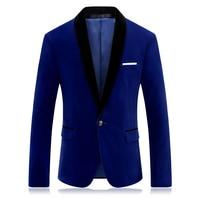 CIGNA Brand Men Long Sleeve Suit Jacket Blue Wine Red Fashion Business Banquet Wedding Men's Dress Jackets