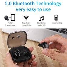2019 wireless Bluetooth 5.0 earbuds sports TWS Bluetooth headset Mini sports wireless headphones with binaural noise reduction цена