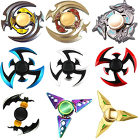 2017 New Fidget Toy Game Hand Spinner Metal Finger Stress Tri Spinner Alloy EDC Hand Spinner Fidget Bearing Gyro Focus ADHD Toys