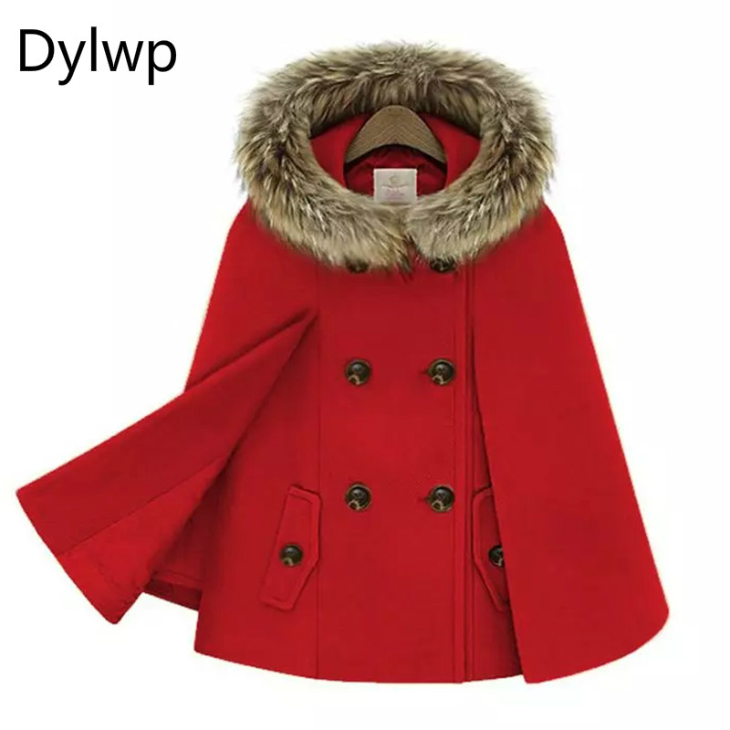 2017 женские зимние смеси мыс манто Femme модные рукава летучая мышь с капюшоном Женский Пальто sheinside шерстяной плащ шерстяное пальто