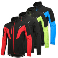 arsuxeo 2017 winter thermal cycling jacket mtb bike windproof wind windbreaker sports clothes for men