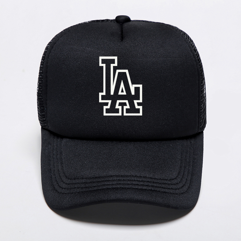 2019 New Brand Letter LA Printed   Baseball     Cap   Women's Men's Punk Hip Hop Snapback Bone Adjustable Hat Sport Breathable Mesh   Cap