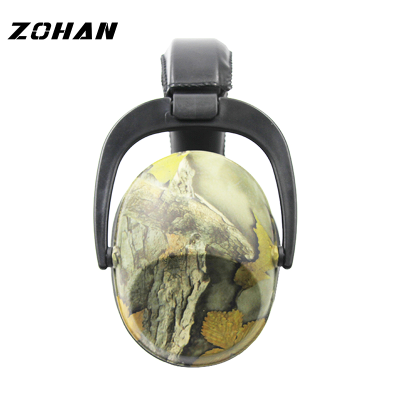 ZOHAN Passive Earmuffs NRR26DB Protective Ear Plugs For Noise Tactical Hunting Earmuff Anti-noise Ear Protection For kid 20mm watch band strap watchbands for men s women sport diving silicone rubber black blue silver buckle relojes hombre
