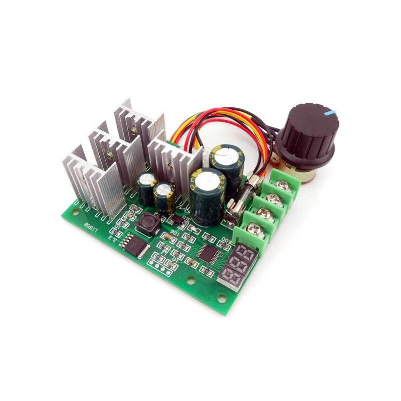 Digital display PWM DC motor speed controller display 0~100% adjustable drive module 6V12V24V36V48V60V Max30A