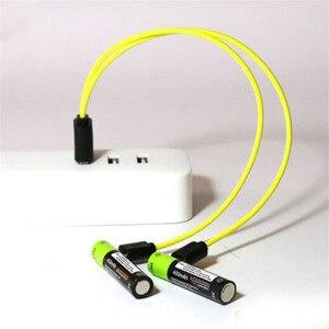 Image 5 - ZNTER AAA Bateria Recarregável 1.5V 400mAh Bateria de Polímero de Lítio Bateria Recarregável USB Universal Com Cabo Micro USB
