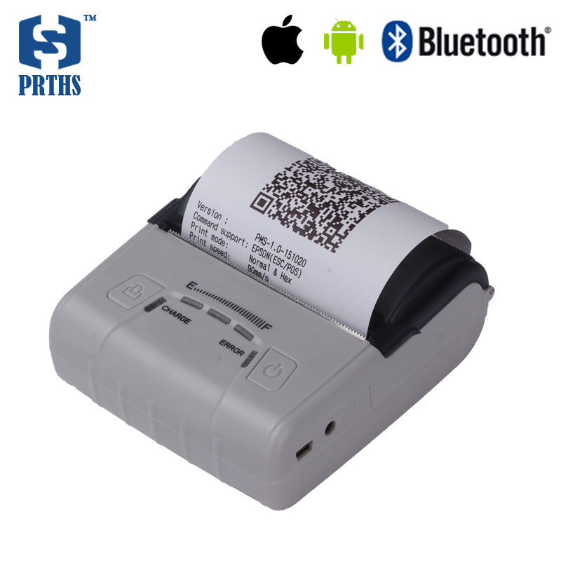 3 inch portable bluetooth thermal receipt printers mall bill printer impressora termica 80mm QR code printing IOS pocket printer termica ан 3 200 tc