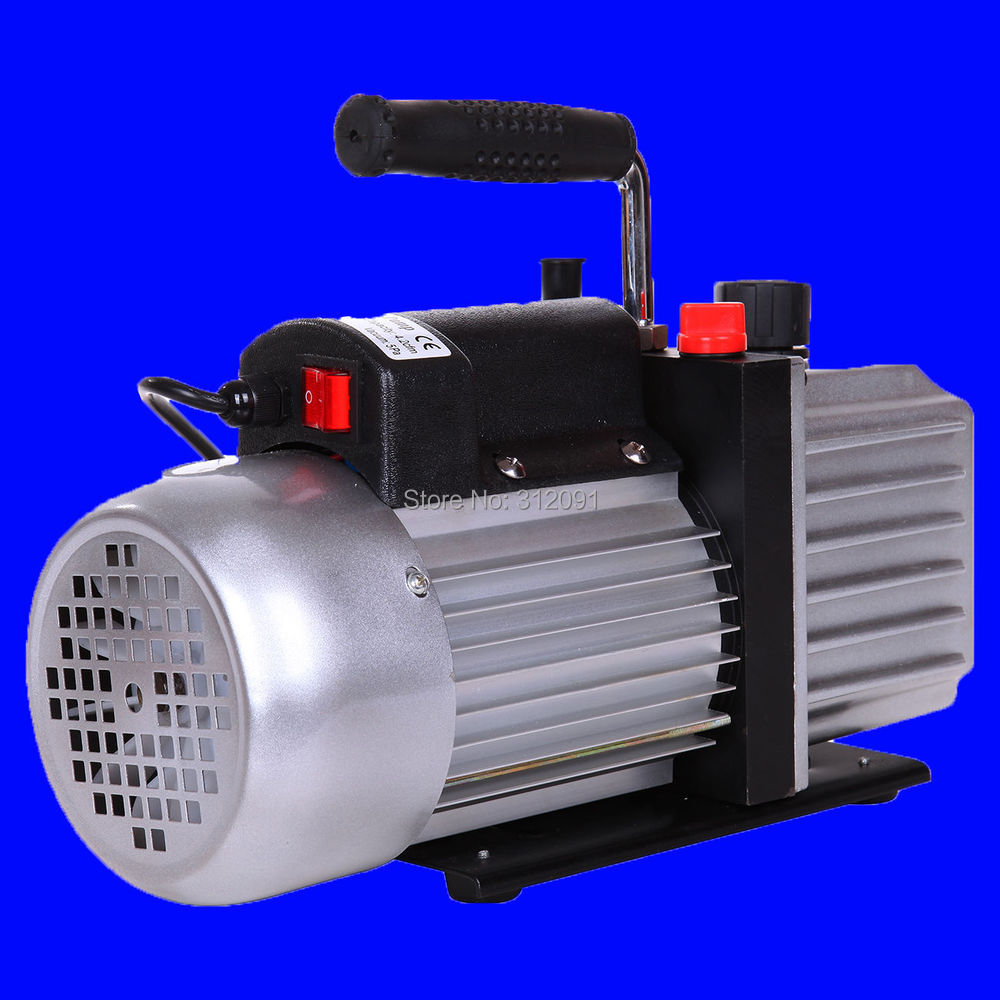 (Ship from US) 5CFM 1/3HP Vacuum Pump Rotary Vane Single Stage AC Refrigerant Air Conditioning 1l s 2 12cfm r134a rotary vane single stage mini vacuum pump for vacuum refrigeration air conditioning refrigerator