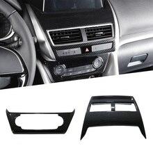 2 шт. ABS регулятор для Кондиционера Переключатель покрытие автомобиля Приборная панель навигация gps мультимедиа Панель Крышка для Mitsubishi Eclipse крест 2018