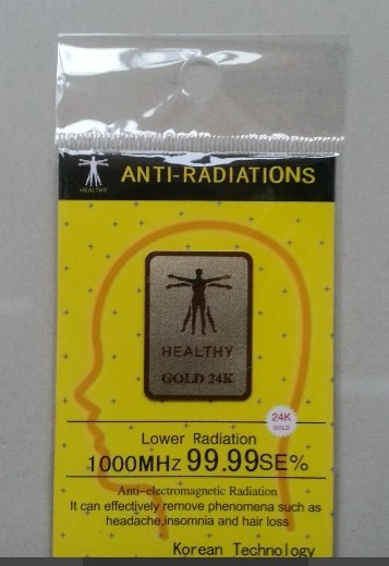 Factory wholesale gold EMF mobile phone anti radiation sticker anti radiation chip  Scalar Shield Energy Sticker 100pcslot-in Phone Sticker & Back Flim from Cellphones & Telecommunications    2