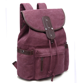 Women Canvas Backpack Mochila Casual Drawstring Backpack School Bags For Teenage Girls Soft Travel Back Pack Laptop Bag